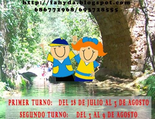 III FAHYDA CAMP 2014: Campamento Terapéutico de verano en Andalucía