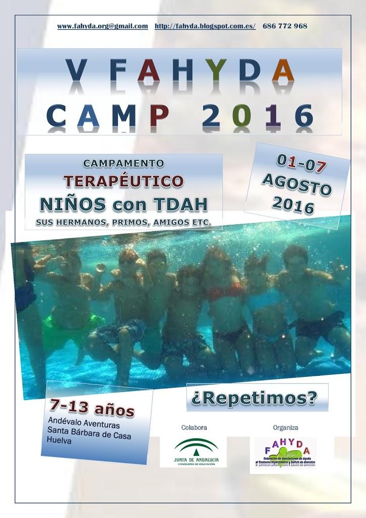 V FAHYDA CAMP 2016: Campamento Terapéuticos de verano en Andalucía