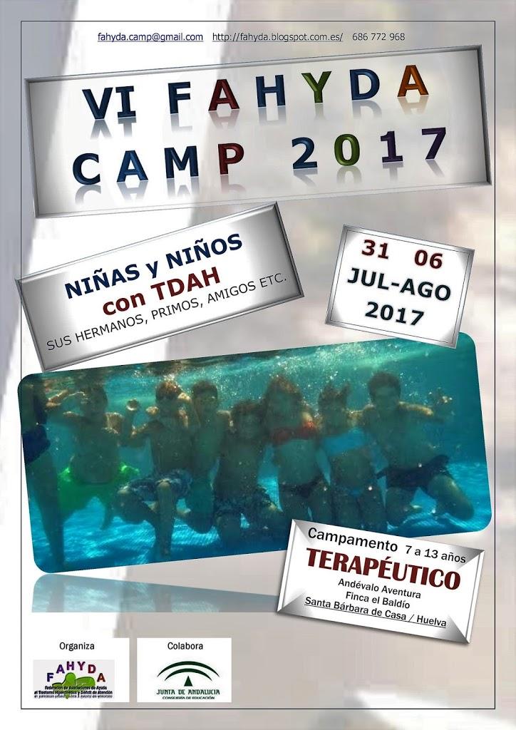VI FAHYDA CAMP 2017: Campamento Terapéutico de verano en Andalucía